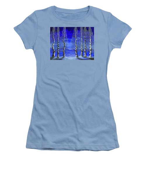 Winters Raven Aspen Women's T-Shirt (Junior Cut) by Rebecca Parker