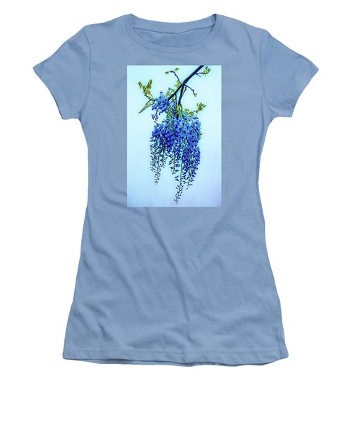 Women's T-Shirt (Junior Cut) featuring the photograph Wisteria by Chris Lord