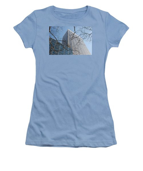 Women's T-Shirt (Junior Cut) featuring the photograph Wood And Glass by Rob Hans