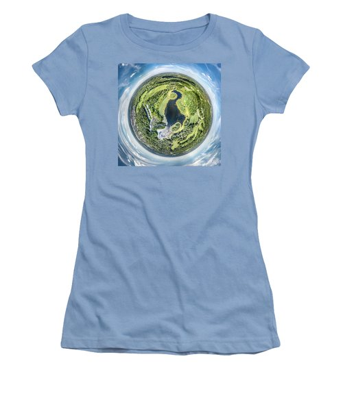 Women's T-Shirt (Athletic Fit) featuring the photograph World Of Whitnall Park by Randy Scherkenbach