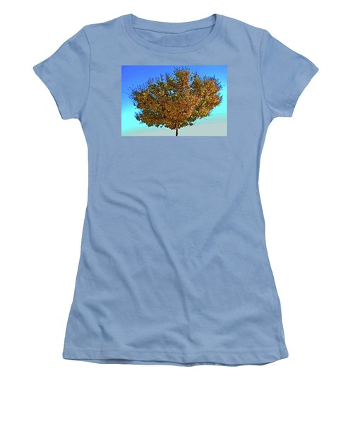 Yellow Tree Blue Sky Women's T-Shirt (Athletic Fit)