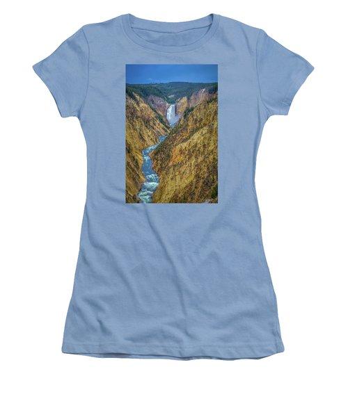 Yellowstone Falls Women's T-Shirt (Athletic Fit)