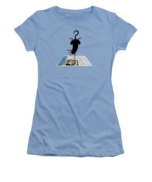 Yoga Mat Women's T-Shirt (Junior Cut) by Andrew Hitchen