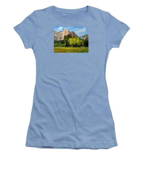 Yosemite - Ribbon Falls Women's T-Shirt (Athletic Fit)