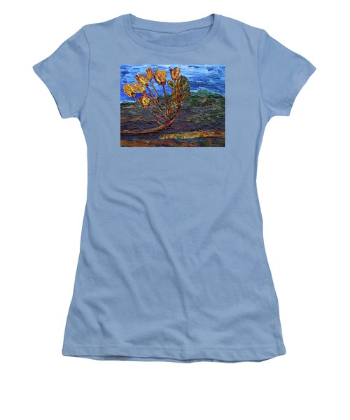 Women's T-Shirt (Athletic Fit) featuring the painting Youth Time by Vadim Levin