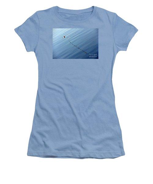 Zip Women's T-Shirt (Athletic Fit)