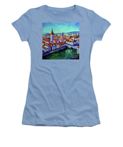 Zurich View Women's T-Shirt (Athletic Fit)