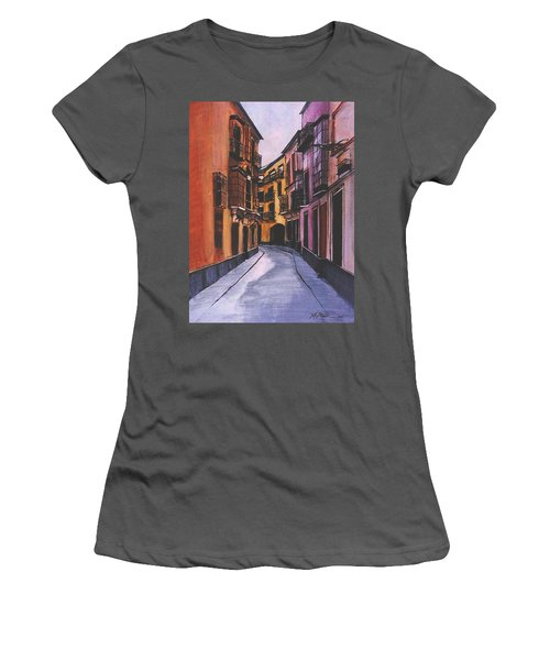 A Street In Seville Spain Women's T-Shirt (Athletic Fit)