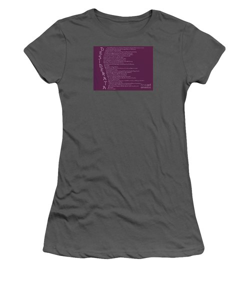 Desiderata 5 Women's T-Shirt (Athletic Fit)