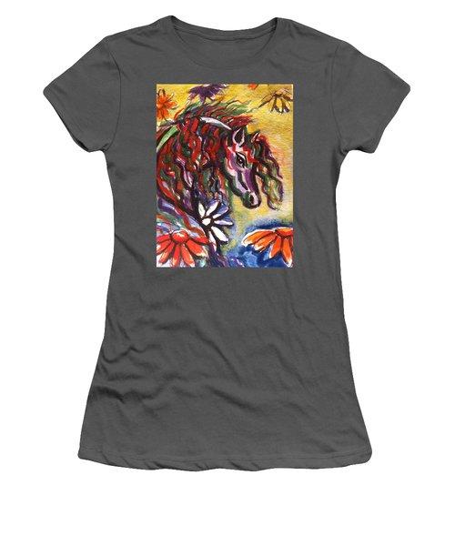 Dream Horse 2 Women's T-Shirt (Junior Cut) by Hae Kim