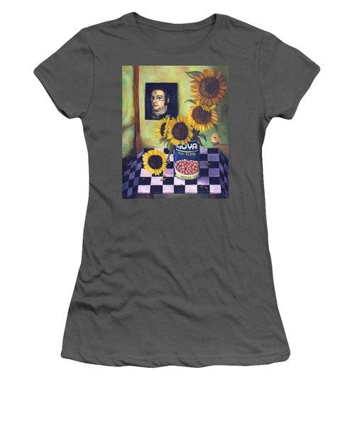 Goyas Women's T-Shirt (Junior Cut) by Leah Saulnier The Painting Maniac