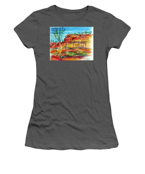 Kimberly Bold Cliffs Australia Nt Women's T-Shirt (Athletic Fit)