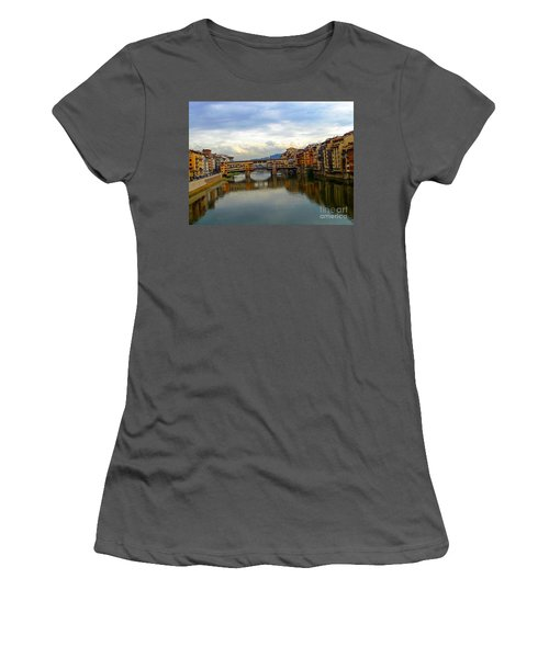 Ponte Vecchio's Padlocks Women's T-Shirt (Athletic Fit)