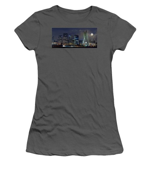 Supermoon In Sao Paulo - Brazil Skyline Women's T-Shirt (Athletic Fit)
