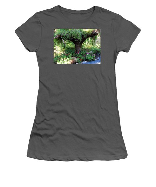 Women's T-Shirt (Junior Cut) featuring the photograph  Upside Down Tree by Jennifer Wheatley Wolf