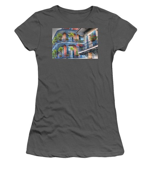 0255 Balconies - New Orleans Women's T-Shirt (Junior Cut) by Steve Sturgill