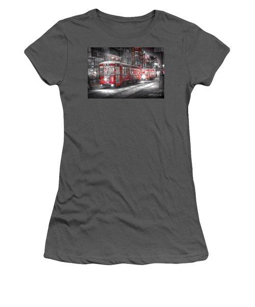 0271 Canal Street Trolley - New Orleans Women's T-Shirt (Junior Cut) by Steve Sturgill