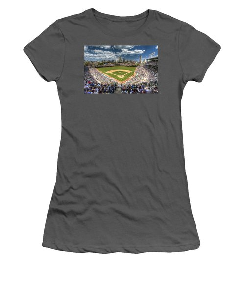 0443 Wrigley Field Chicago  Women's T-Shirt (Junior Cut) by Steve Sturgill