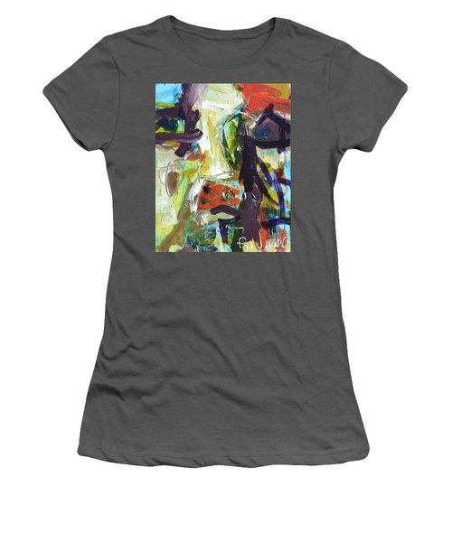 Abstract Cow Women's T-Shirt (Athletic Fit)