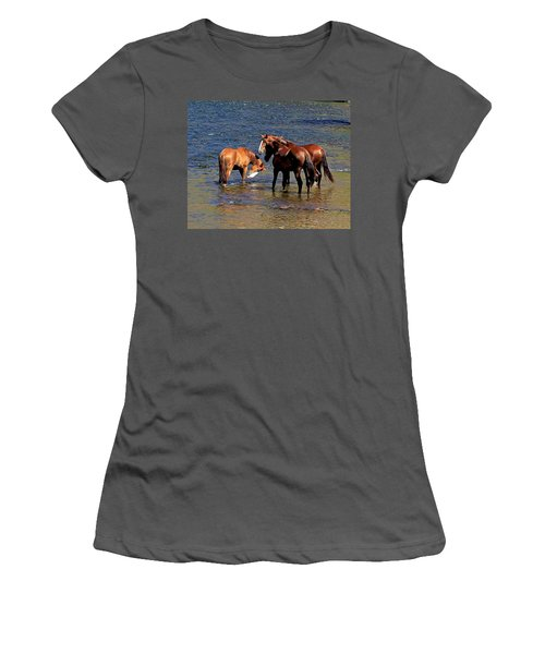 Arizona Wild Horses On The Salt River Women's T-Shirt (Athletic Fit)