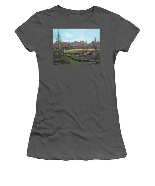 Autumn Landscape Women's T-Shirt (Junior Cut) by Jan Dappen