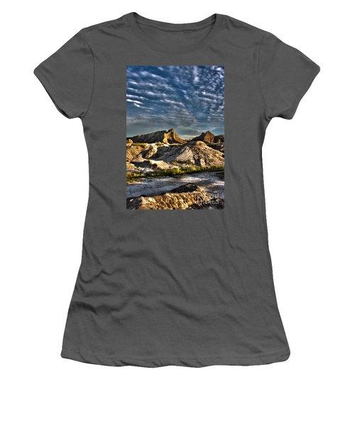 Badlands National Park Sunset Women's T-Shirt (Athletic Fit)