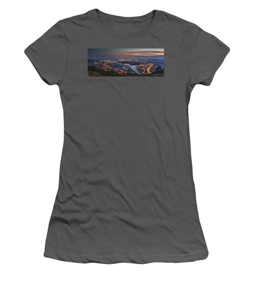 Ferrol's Ria Panorama From Mount Ancos Galicia Spain Women's T-Shirt (Junior Cut) by Pablo Avanzini