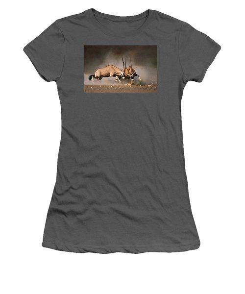 Gemsbok Fight Women's T-Shirt (Athletic Fit)
