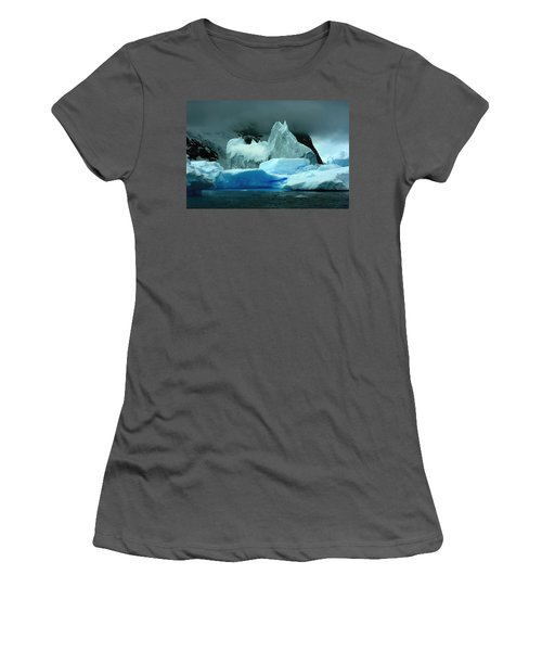 Women's T-Shirt (Junior Cut) featuring the photograph Iceberg by Amanda Stadther