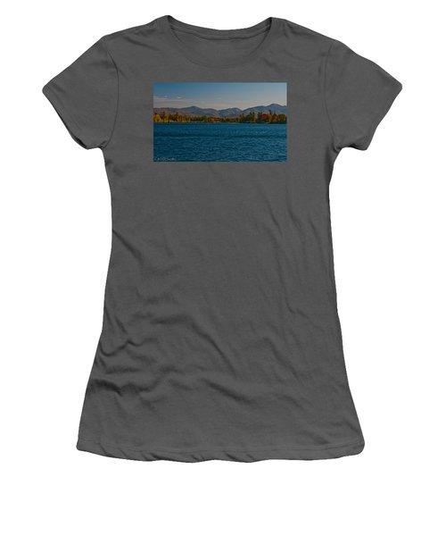 Lake Placid And The Adirondack Mountain Range Women's T-Shirt (Athletic Fit)