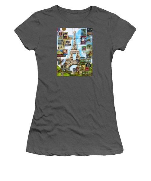 Memories Of Paris Women's T-Shirt (Junior Cut) by Joseph Sonday