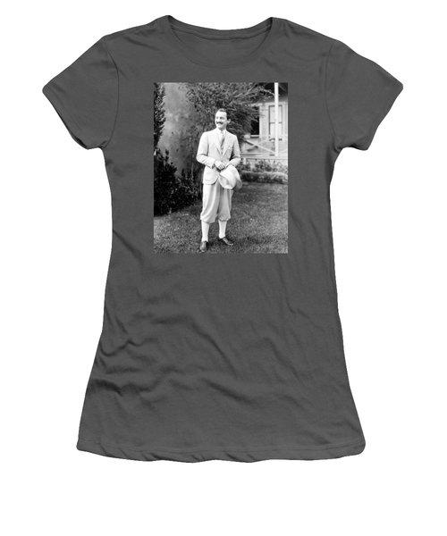 Women's T-Shirt (Junior Cut) featuring the photograph Men's Fashion, C1925 by Granger