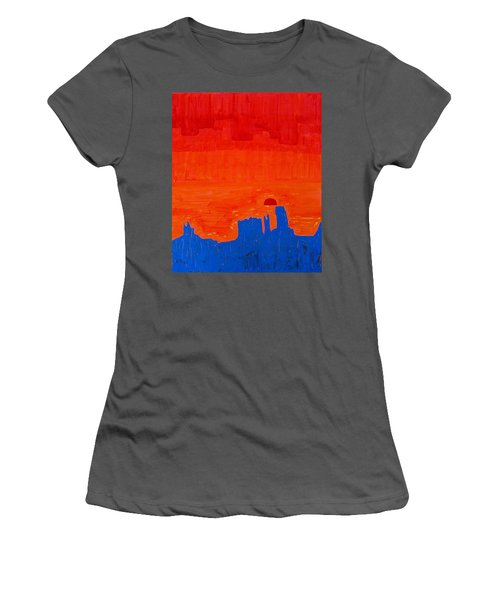 Monument Valley Original Painting Women's T-Shirt (Athletic Fit)