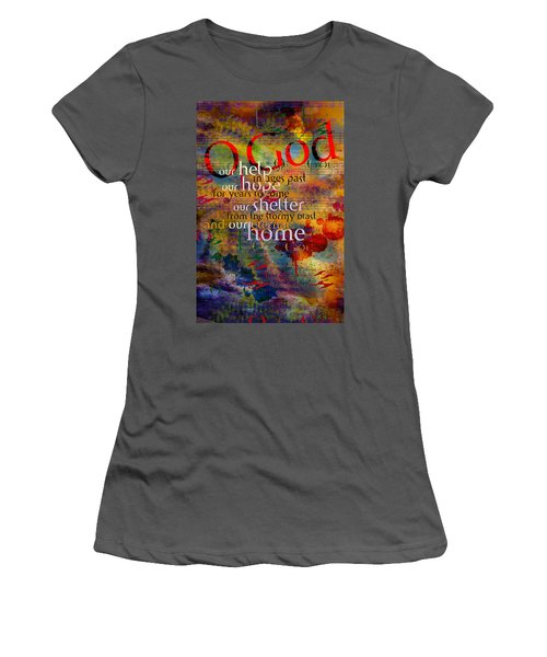 O God Our Help Women's T-Shirt (Junior Cut) by Chuck Mountain