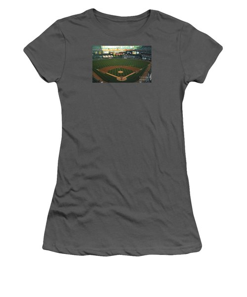 Women's T-Shirt (Junior Cut) featuring the photograph Old Busch Field by Kelly Awad