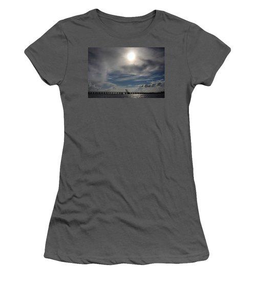 Women's T-Shirt (Junior Cut) featuring the photograph Pass Manchac by Charlotte Schafer