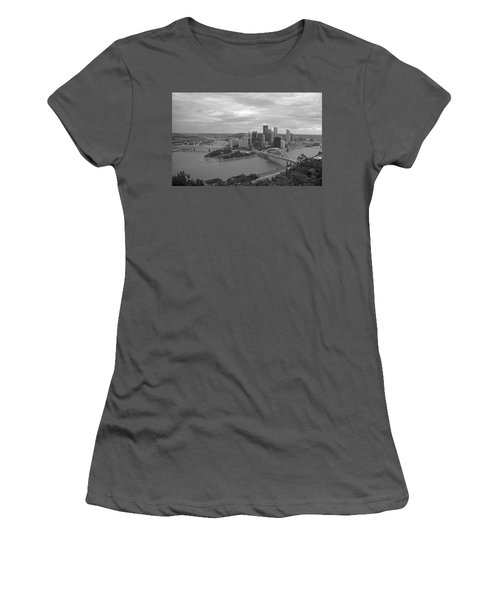 Pittsburgh - View Of The Three Rivers Women's T-Shirt (Athletic Fit)