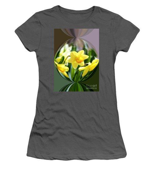 Spring Daffodils   Women's T-Shirt (Junior Cut) by Tina  LeCour