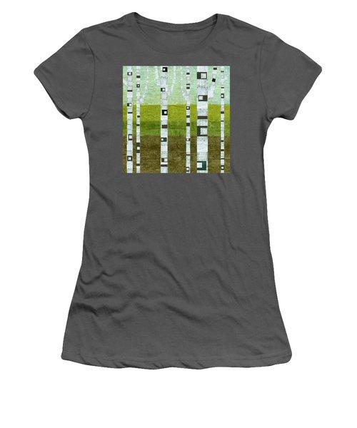 Summer Birches  Women's T-Shirt (Athletic Fit)