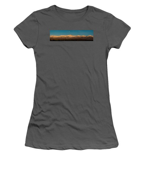The Presidential Range White Mountains New Hampshire Women's T-Shirt (Athletic Fit)