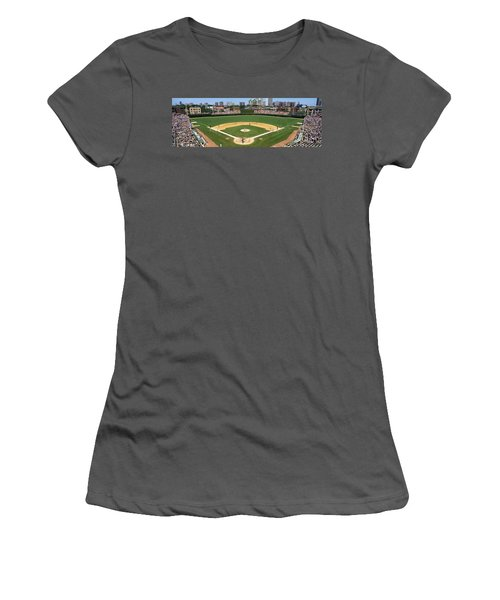 Usa, Illinois, Chicago, Cubs, Baseball Women's T-Shirt (Athletic Fit)