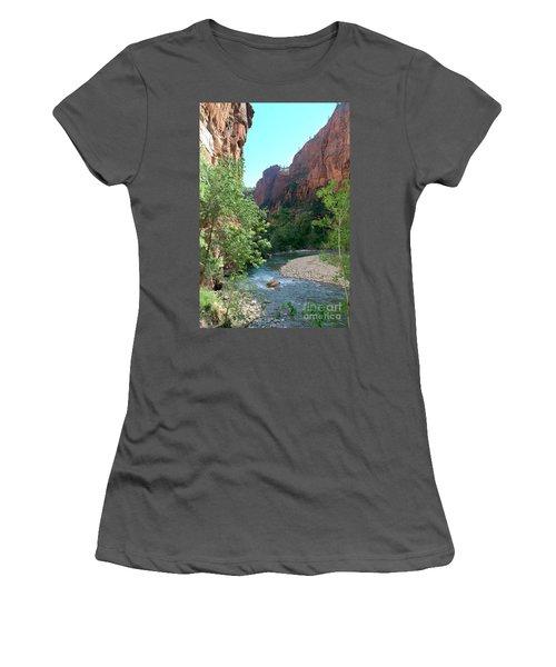 Virgin River Rapids Women's T-Shirt (Athletic Fit)