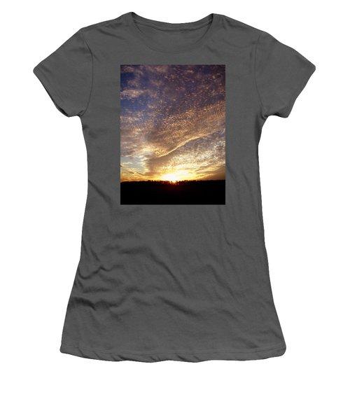 Wild Sky 2 Women's T-Shirt (Junior Cut) by Cynthia Lassiter