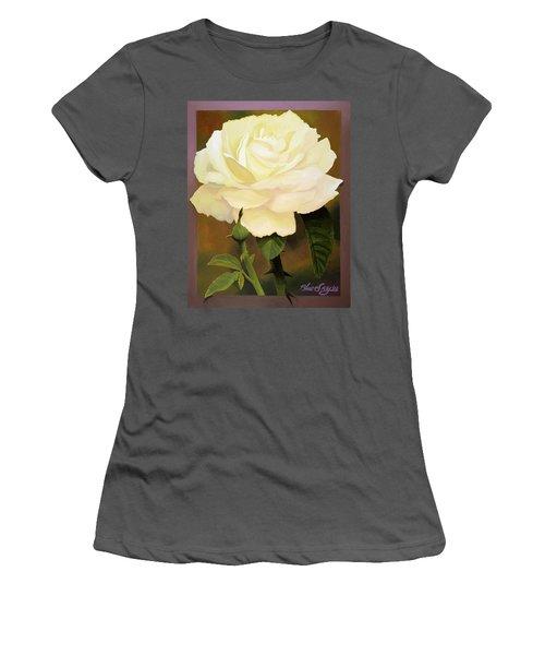 Yellow Rose Women's T-Shirt (Junior Cut) by Blue Sky