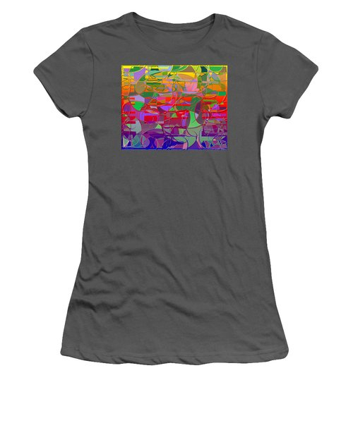 1021 Abstract Thought Women's T-Shirt (Athletic Fit)