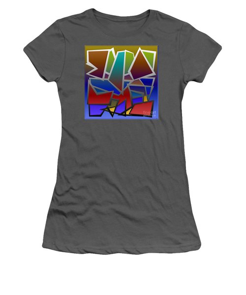 1624 Abstract Thought Women's T-Shirt (Athletic Fit)