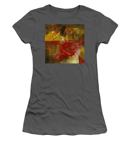 Abstract Belly Dancer 6 Women's T-Shirt (Athletic Fit)