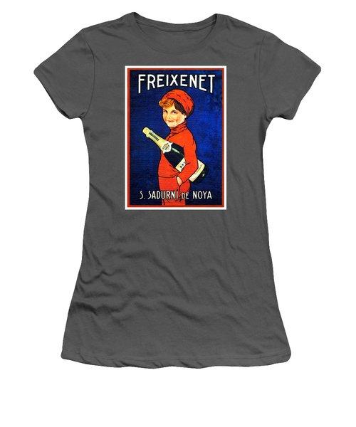 1920 - Freixenet Wines - Advertisement Poster - Color Women's T-Shirt (Athletic Fit)