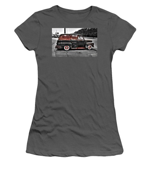 Women's T-Shirt (Junior Cut) featuring the photograph 1948 Ford Panel Truck by Paul Mashburn