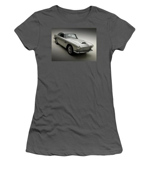 Women's T-Shirt (Junior Cut) featuring the photograph 1958 Aston Martin Db4 by Gianfranco Weiss